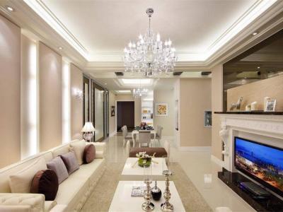 西式古典-95平米三居室装修样板间