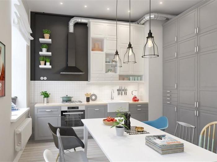 简欧风格-115.41平米三居室-装修样板间