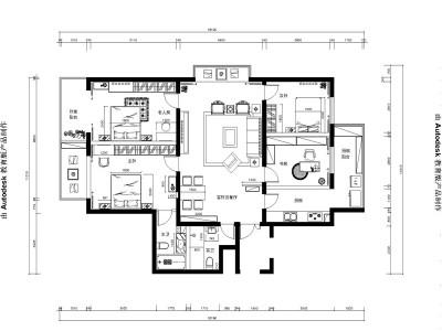中式古典-116平米三居室装修样板间