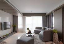 100平米二居室装修攻略 现代简约半包4万!-御城装修
