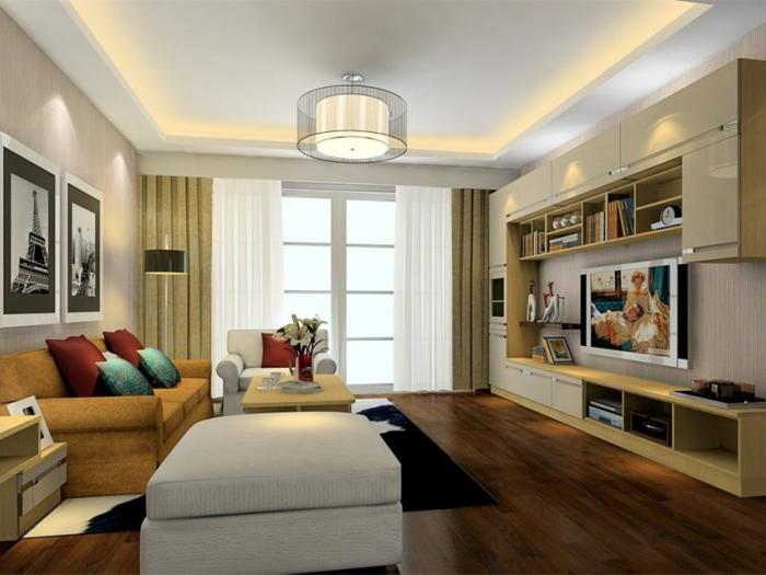 现代简约-77.97平米二居室-装修样板间