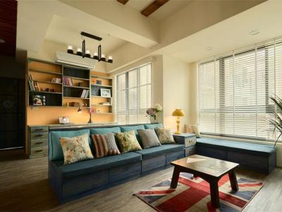 田园风格-105平米三居室装修样板间