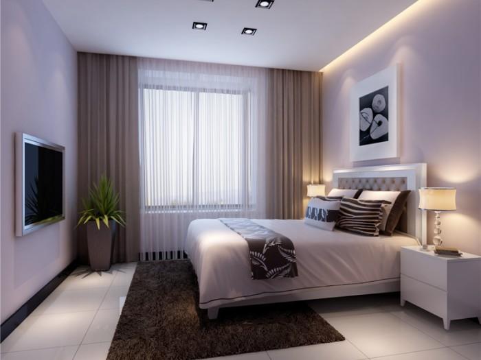 现代简约-131.85平米三居室-装修样板间