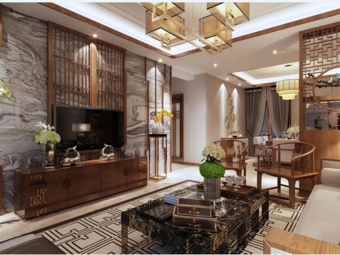 中式风格-173平米四居室-装修设计