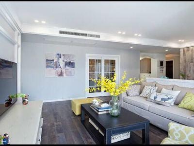 欧美风情-114平米三居室装修样板间