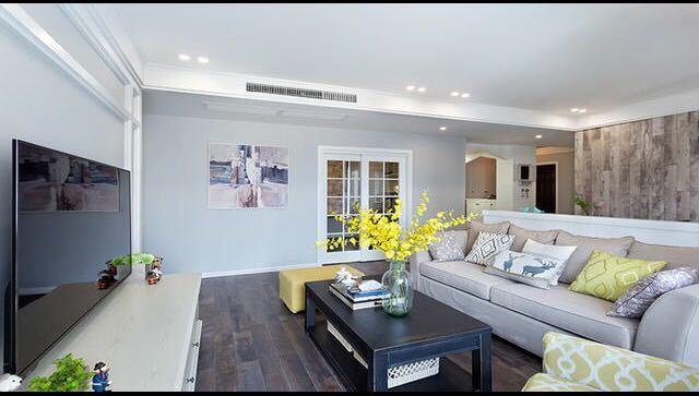 欧美风情-114平米三居室-装修样板间