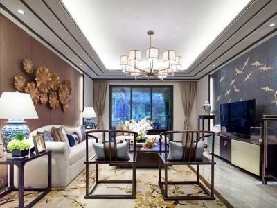 中式古典-119平米三居室装修样板间