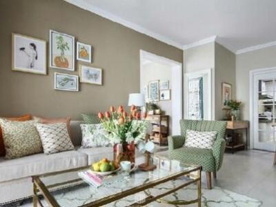 田园风格-109.87平米三居室装修设计