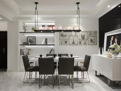 欧美风情-93平米二居室装修样板间