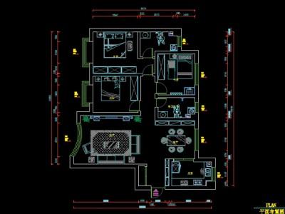 欧式风格-109平米三居室装修样板间