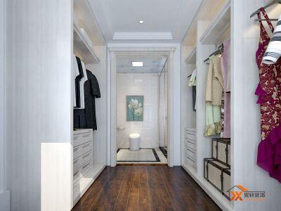 简欧风格-126平米三居室装修样板间
