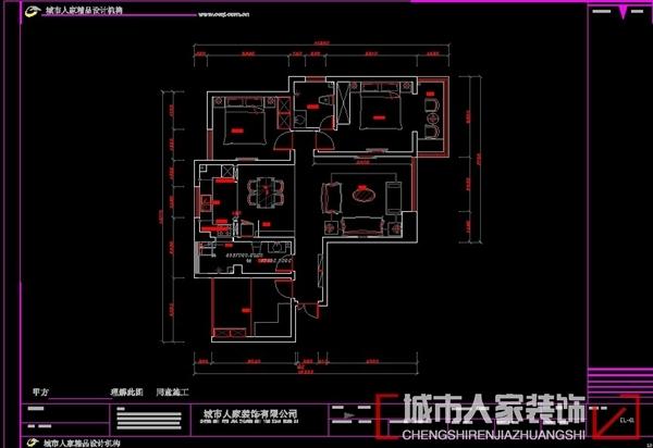 欧式风格-117平米三居室-装修样板间