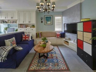 欧美风情-95平米三居室装修样板间