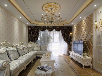 简欧风格-139平米四居室装修样板间