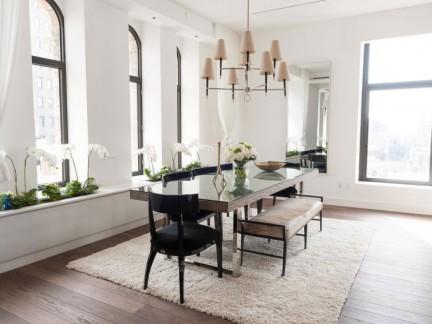 优雅简欧风格公寓浪漫餐厅装修实景图