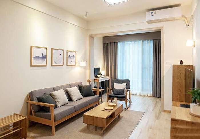 日韩风格-90平米二居室-装修样板间