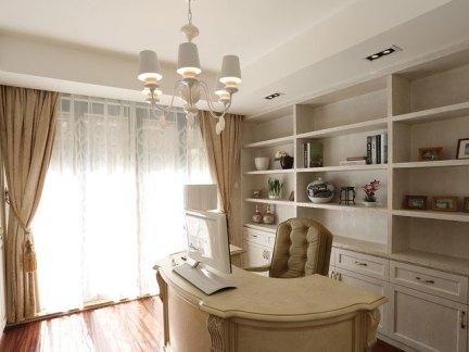优雅欧式风格书房空间装修实景图
