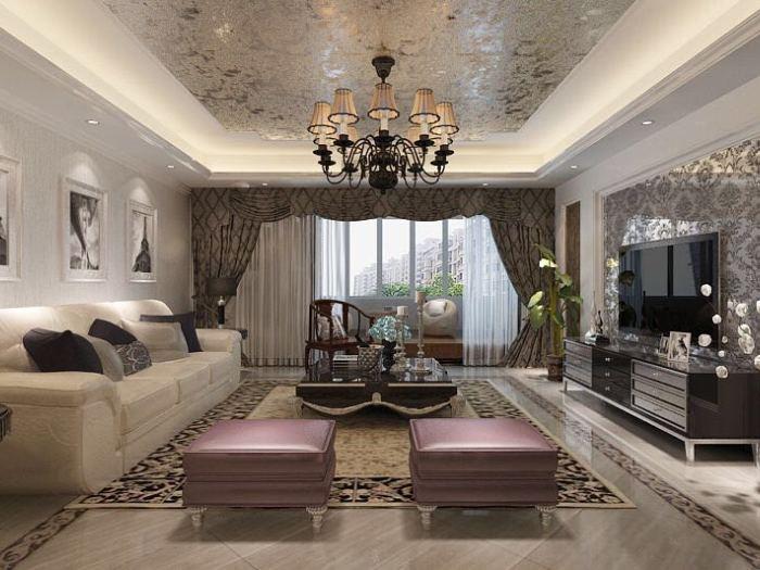 新古典风格-141平米四居室-装修样板间