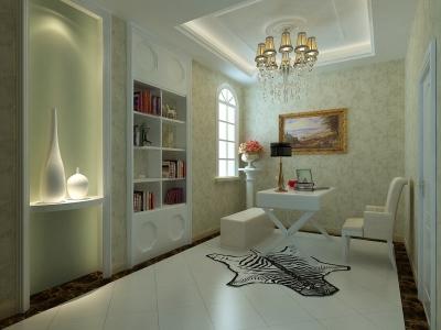简欧风格-130平米三居室装修样板间