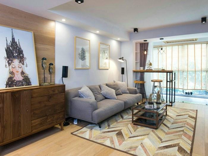 北欧-0平米二居室-装修样板间