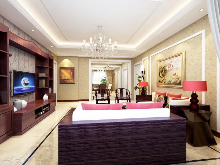 中式风格-199平米四居室-装修样板间
