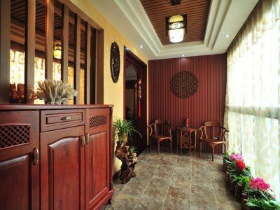 中式风格-169.77平米四居室装修样板间
