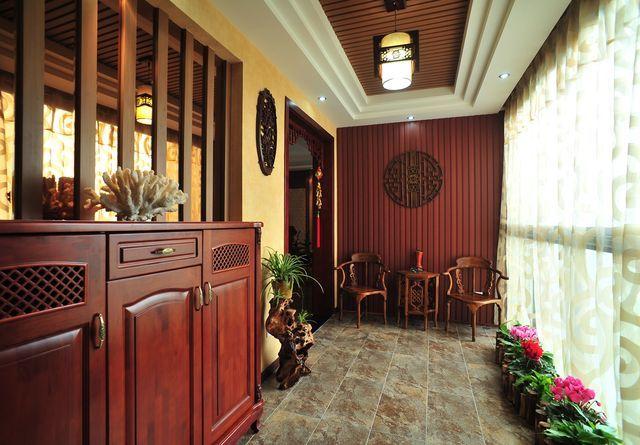 中式风格-169.77平米四居室-装修样板间