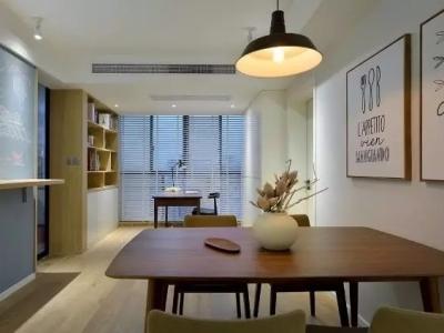 北欧风格-90.19平米二居室装修样板间