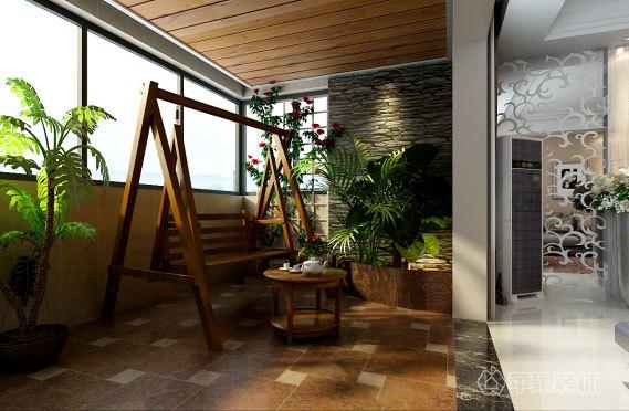 简欧风格-117平米三居室-装修样板间