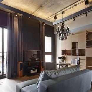 后现代二居室装修效果图