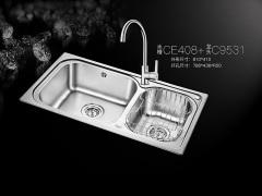 欧琳CE408(水槽) C9531(龙头)