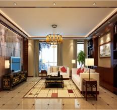 棕榈泉国际公寓-220平米-中式风格