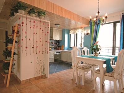 田园风格-111.39平米三居室装修样板间
