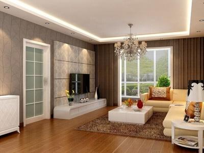 现代简约-98平米三居室装修样板间