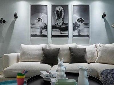 现代简约-125.43平米三居室装修样板间