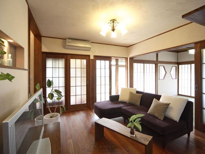 日韩风格-112平米三居室-装修样板间
