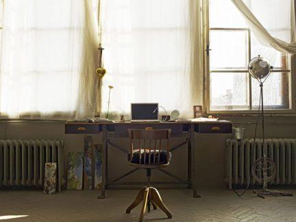 工业风格文艺书房复古书桌装修效果图