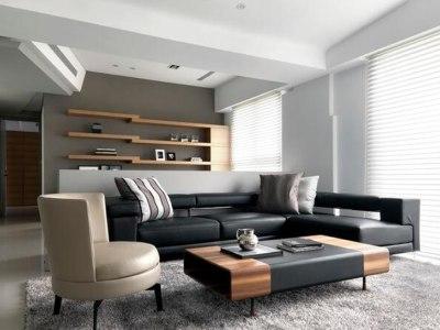 现代简约-91.19平米二居室装修样板间