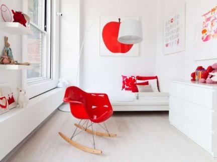 简约风格时尚小户型红色客厅效果图