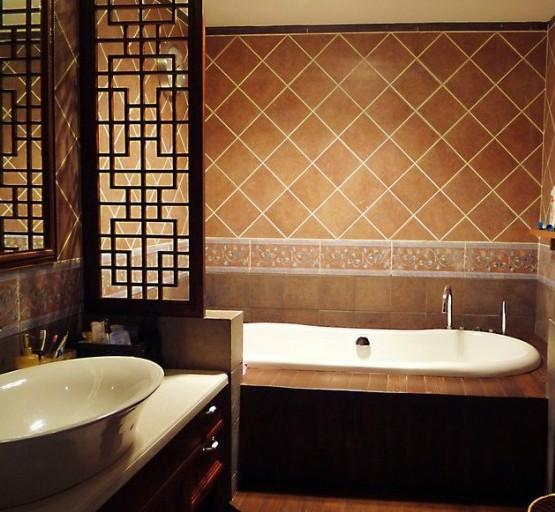 中式风格-138平米三居室-装修样板间