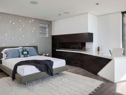 时尚现代风格卧室创意背景墙装修图片