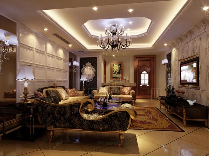 西式古典-105平米二居室-装修样板间
