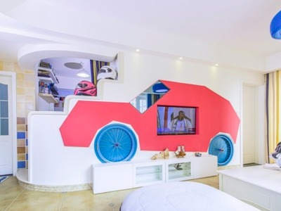 地中海风格-86.61平米三居室装修样板间