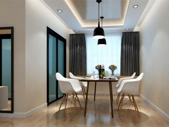 现代简约-119.37平米三居室-装修样板间