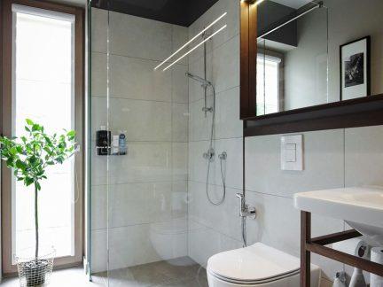 清新舒适现代风格卫生间装修实景图