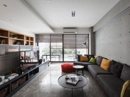 休闲混搭风格大三居客厅装修效果图