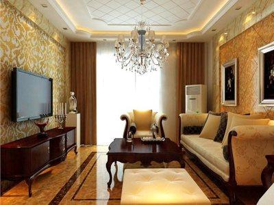 欧美风情-104.41平米三居室装修样板间