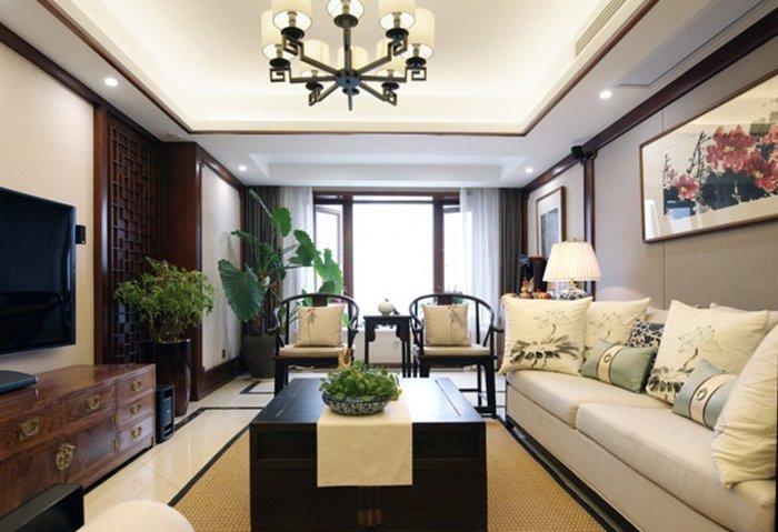 中式古典-114.53平米三居室-装修样板间