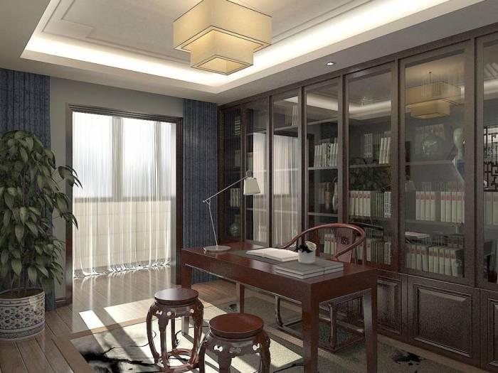 中式古典-203平米三居室-装修样板间