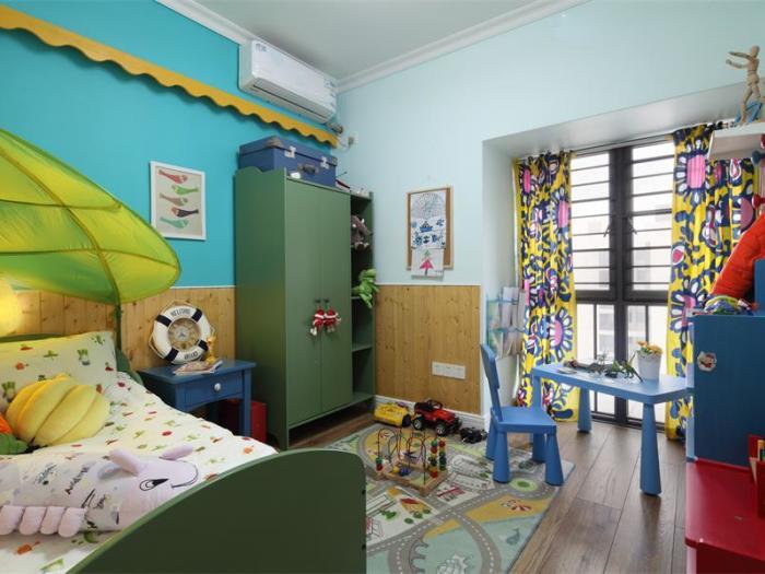地中海风格-89.98平米三居室-装修样板间